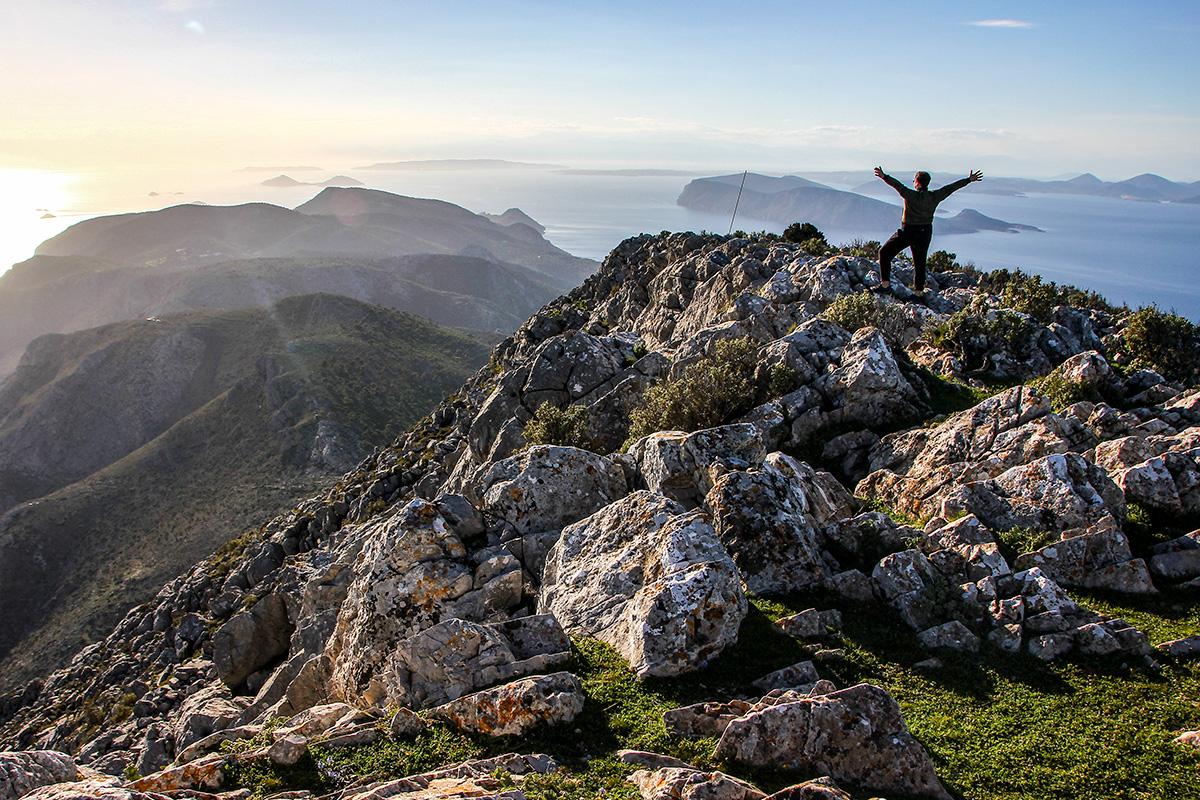 Trekking to Mount Klimaki in Hydra
