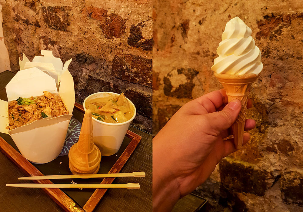 Yellow Duck Curry & Ice Cream in Neon Asian Street Food