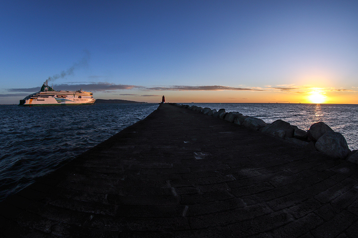 Poolbeg Lighthouse Walk After Sunrise