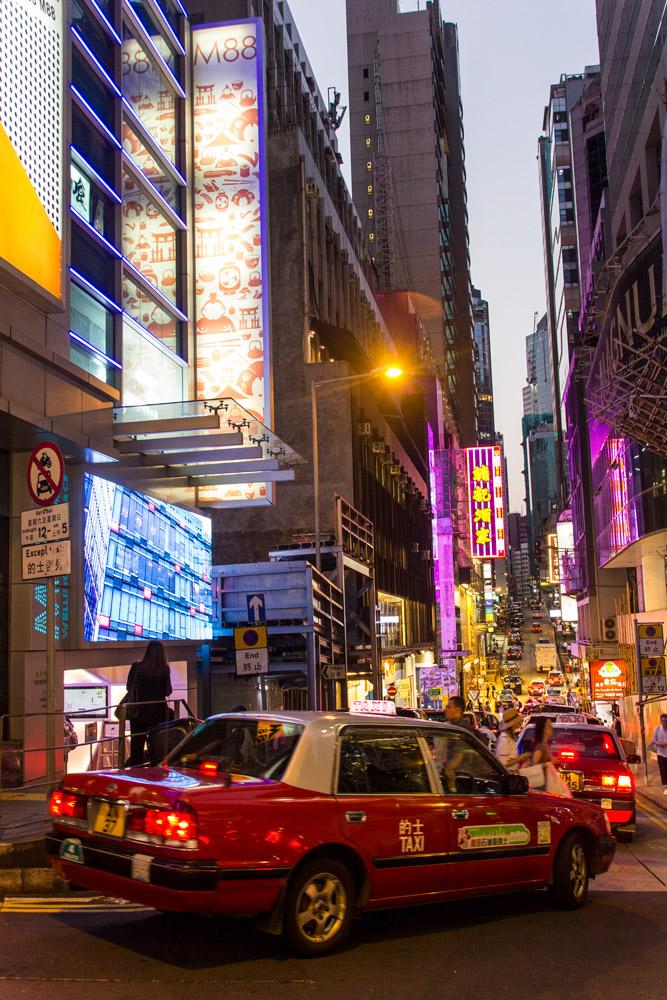 Taxi in Hongkong