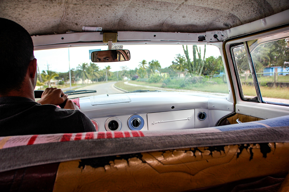 Inside a Cuban car is not as nice as outside