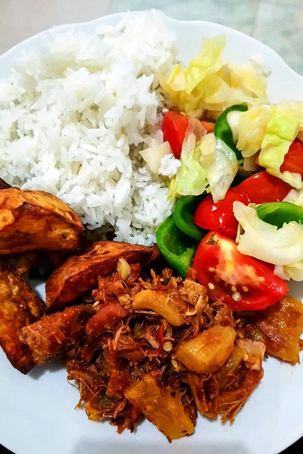 Random meal in Cuba