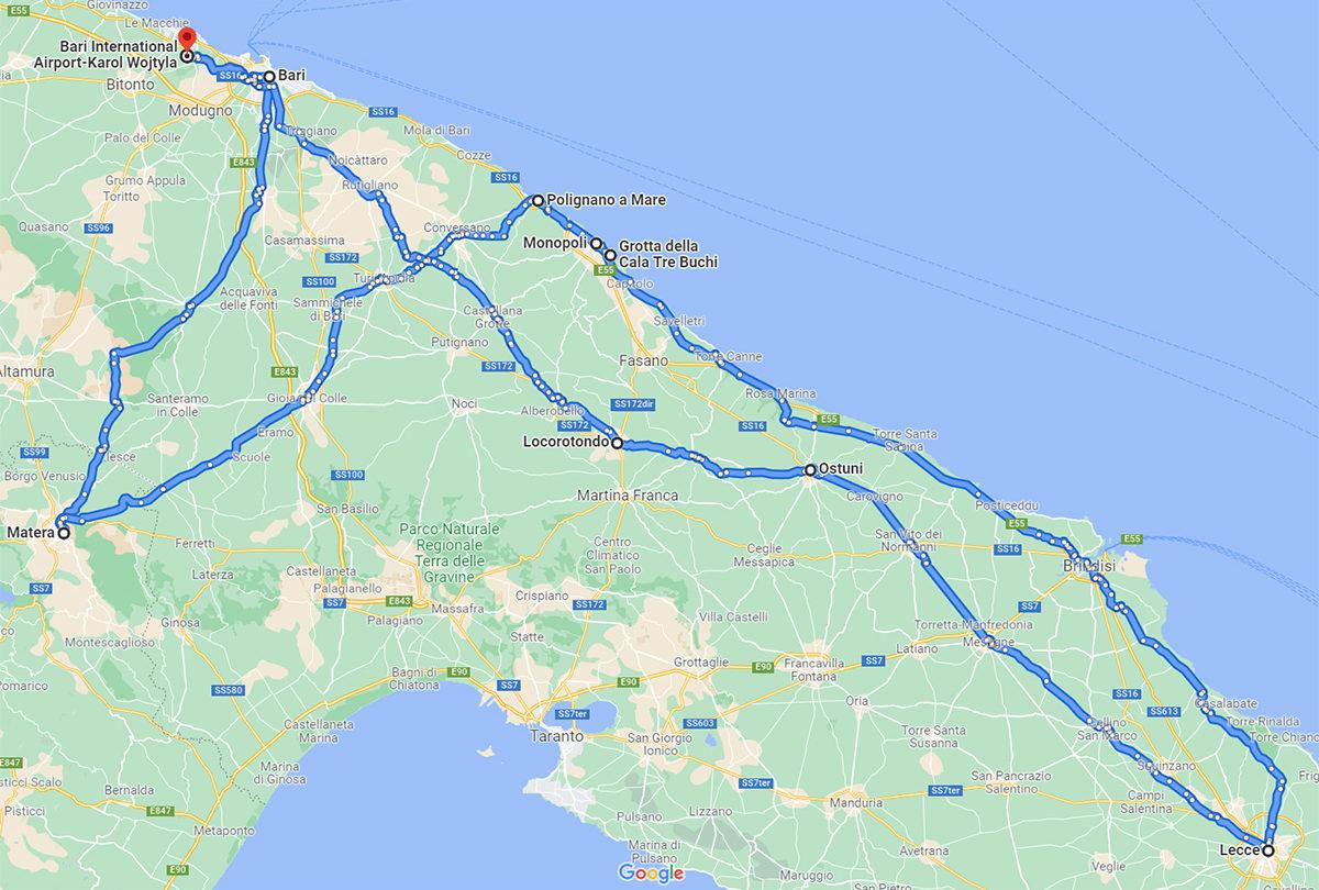 My Loop Route in Puglia (Apulia)