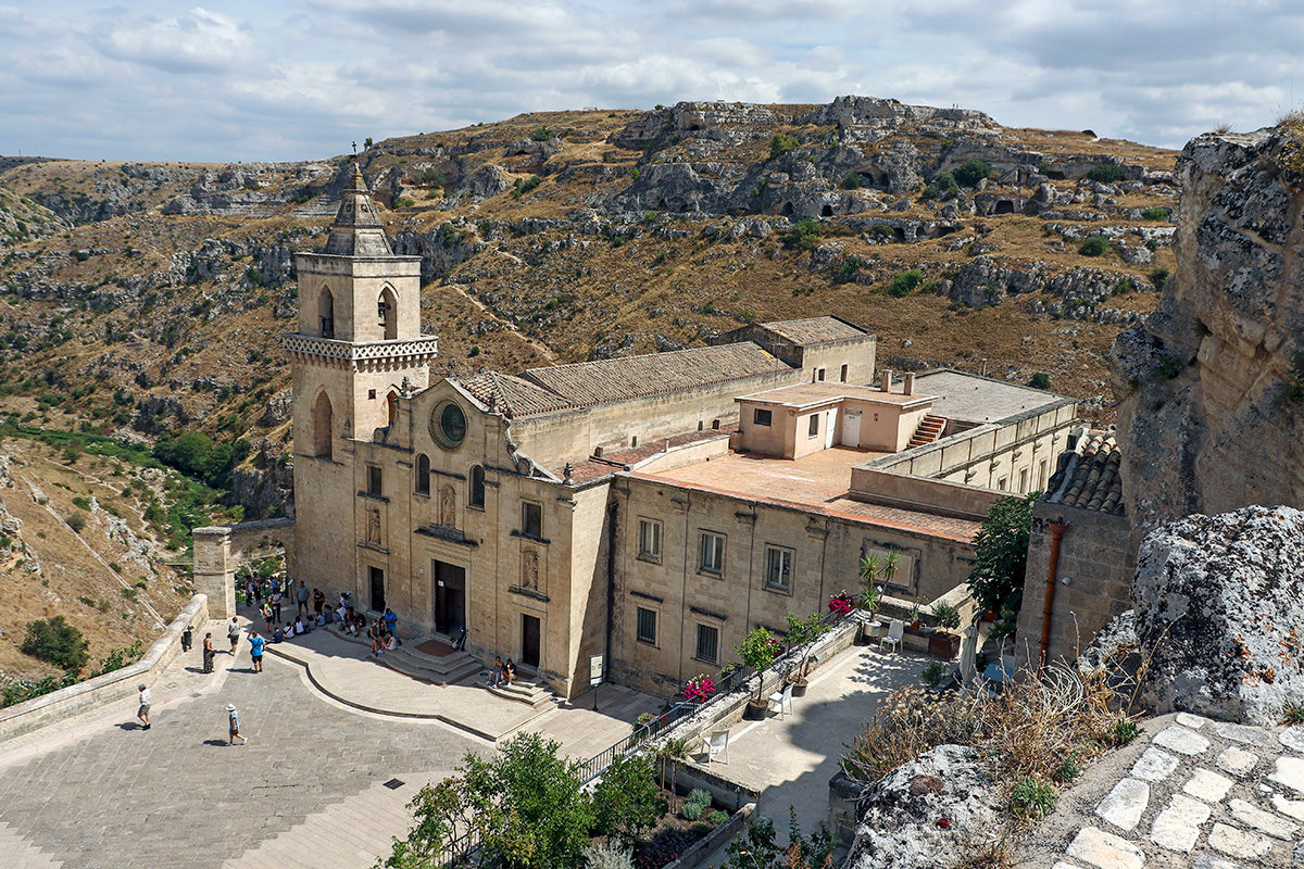 Matera with its famous cave dwellings